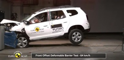 2017 model Dacia Duster çarpışma testi!