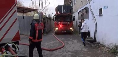 Bakırköy'de korkutan yangın