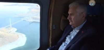 Başbakan Yıldırım, Ağın Köprüsü'nü inceledi