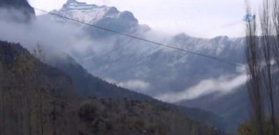 Beytüşşebap dağları beyaz örtüye büründü