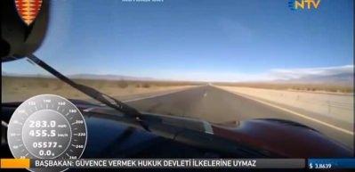 Bugatti'yi tarihe gömdü! Saatte 457 km hıza ulaştı