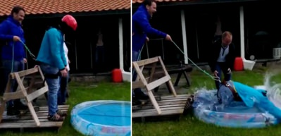 Bungee jumping şakası kırdı geçirdi!