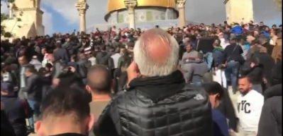 Cuma Namazı sonrası Mescid-i Aksa'da Kudüs protestosu