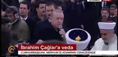 Cumhurbaşkanı Erdoğan cenazede konuştu