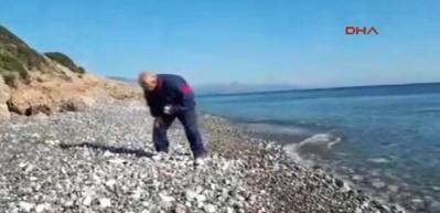 Deniz taşları tuvali oldu