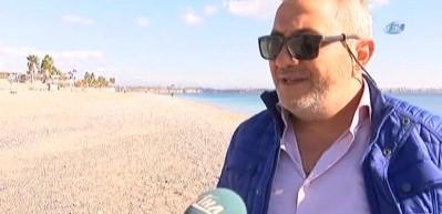 Dünyaca ünlü sahil bomboş kalınca define avcıları ortaya çıktı