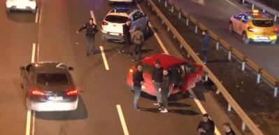 E-5 karayolu Mecidiyeköy mevkiinde zincirleme kaza
