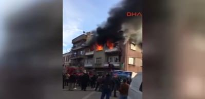 Edremit'teki ev yangınında can pazarı yaşandı