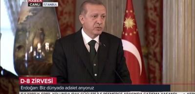 Erdoğan D-8 kapanışında konuştu
