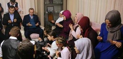 Erdoğan, Eren Bülbül'ün ailesini ziyaret etti
