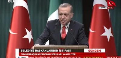 Erdoğan: İstifasını vermeyen için gereği yapılır