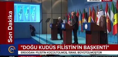Erdoğan: Trump efendi Filistin'in tamamını alma gayretinde