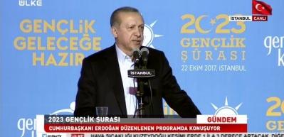 Erdoğan: Tüm gençlerimizin en az 1 yabancı dil öğrenmelerini bekliyorum