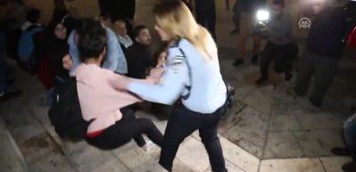 Filistinli kadın, İsrailli polise böyle karşılık verdi!