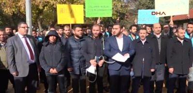 Gaziantep'te 33 STK'dan 'Kudüs' protestosu