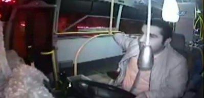 Halk otobüsü şoföründen alkışlanacak davranış