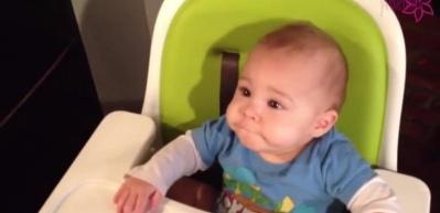 İlk kez çikolata yiyen bebeğin tepkisi...