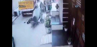 İneklerin kavgasında motosikletli şahıs yaralandı