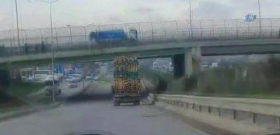 İstanbul'da aşırı yüklü kamyonlar tehlike saçtı