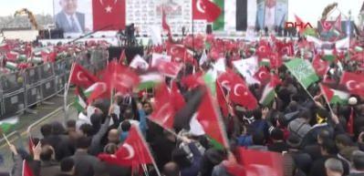 İstanbul'da Kudüs için büyük miting