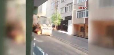 İstanbul'da saniyeler içinde oldu!