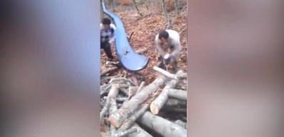 Karadenizli odunculardan pratik icat