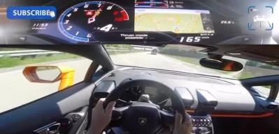 Lamborghini Huracan ile 342 km hız yapan adam!