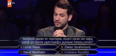 Milyoner'de dövme yaptırmayan futbolcu sorusuna öyle bir cevap verdi ki...