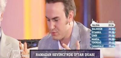 Mustafa Ceceli'den canlı yayında iftar duası