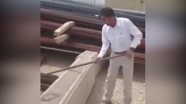 İran'da inşaat demiri testi sosyal medyayı salladı