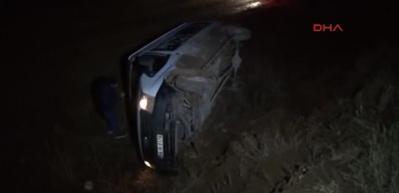 Sivas'ta okul servis minibüsü devrildi: 6 öğrenci yaralı