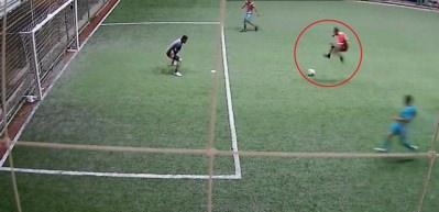 Sosyal medyayı sallayan ilginç gol!