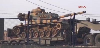 Suriye sınırına 40 araçlık askeri sevkiyat