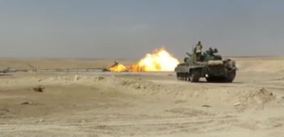 Suriye'de boru hattındaki yangına tank atışlarıyla söndürüldü