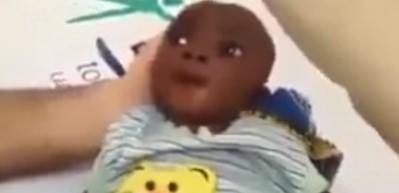 Susuzluktan ölmek üzere olan bebek Türk doktoru böyle ağlattı