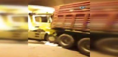 TEM'de 12 araç birbirine girdi! 10 kilometre kuyruk oluştu