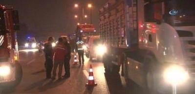 TEM'de feci kaza! Sağlık ekipleri sevk edildi