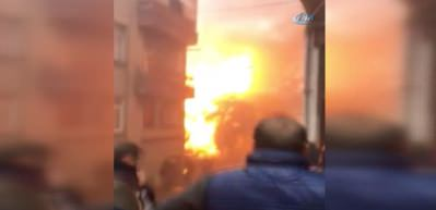 Trabzon'da korkutan patlama kamerada