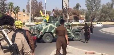 PKK'lı teröristler Kerkük sokaklarında!