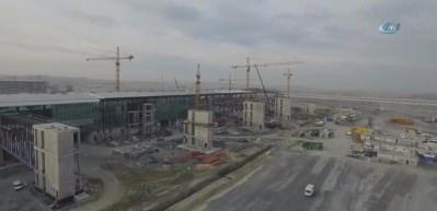 Yapımı devam eden 3. Havalimanı'nın son durumu havadan görüntülendi