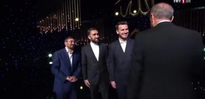 Yarışmada Erdoğan sürprizi