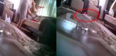 Zonguldak'ta skandal görüntüler! Öz annesi yaptı