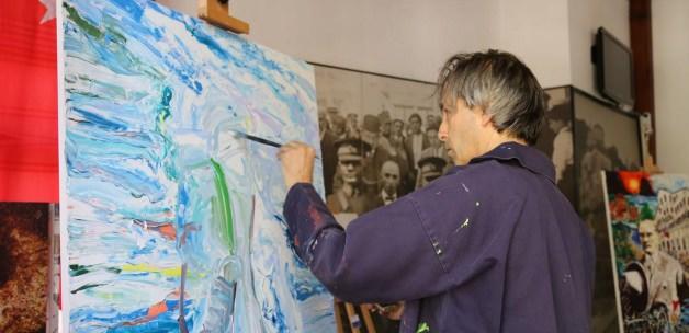 Kastamonu haberleri İngiliz ressamdan Atatürk tablosu - 25 Ağustos 2015