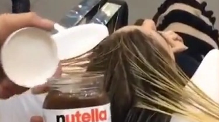 Nutella ile saç boyayan çılgın kuaför!