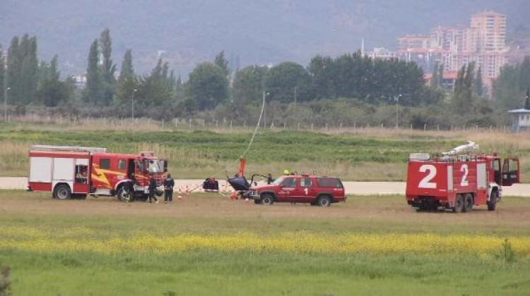 Balıkesir'de 'gyrocopter' kazası