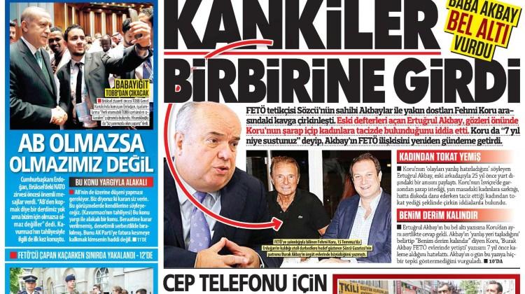 25 Mayıs Perşembe gazete manşetleri