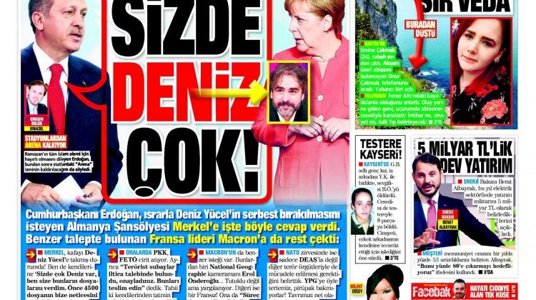 27 Mayıs Cumartesi gazete manşetleri