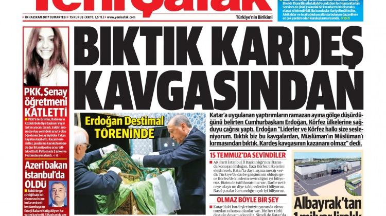10 Haziran Cumartesi gazete manşetleri
