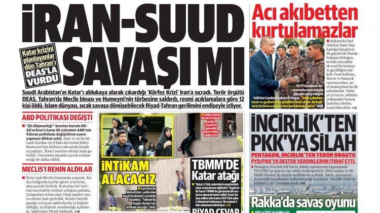 8 Haziran Perşembe gazete manşetleri