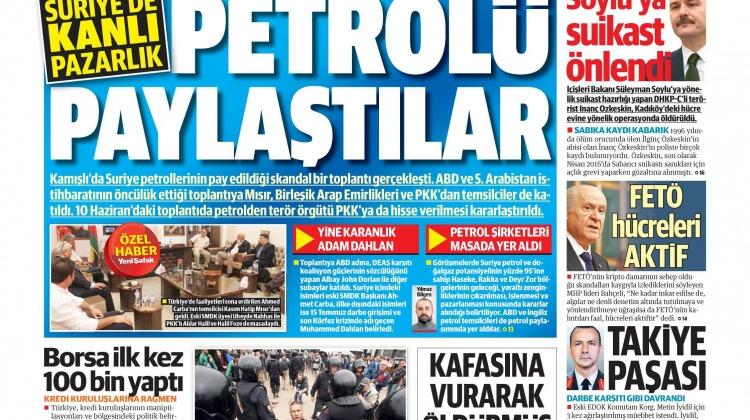 14 Haziran Çarşamba gazete manşetleri